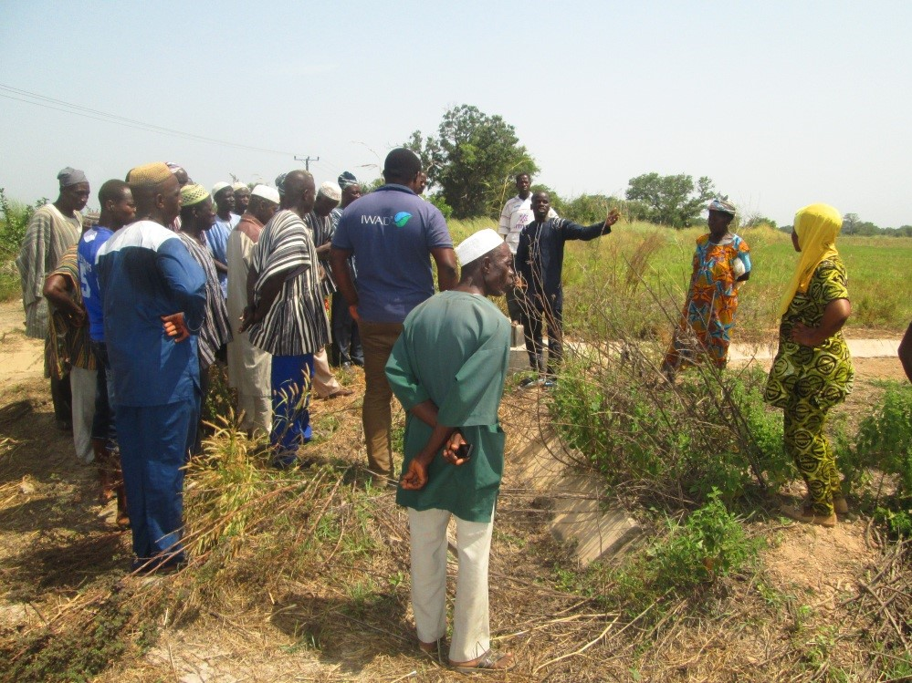 Smallholder farmers explaining the SHI/CA concepts to the visitors